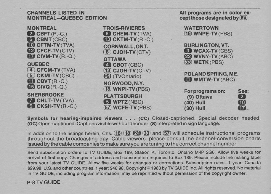 tv guide listings montreal videotron